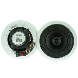 "6 1 2"" 2 Way Ceiling Speaker BLC60 Pair 2pc Bestlink Netware"