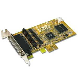 4 Port RS-232 w/ Cash Drawer Interface & DC Jack Low-Profile PCI Express Card