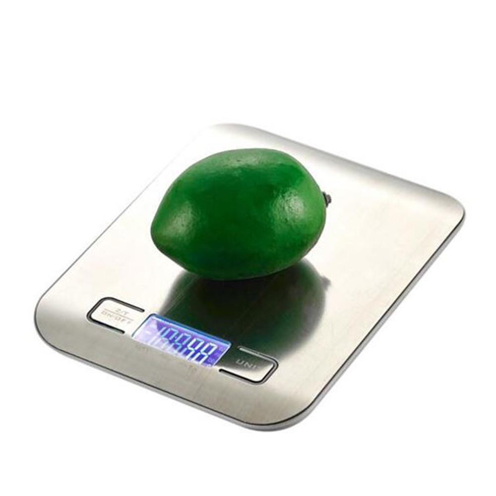 5Kg (11Lb) Silver Stainless Steel Platform Kitchen Scale NS-K15