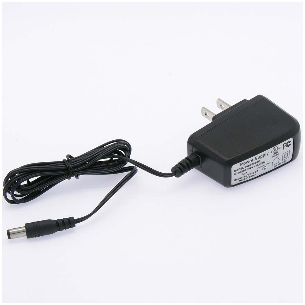 DC5V 500mA Power Supply AC100/240V 2.1/5.5mm Plug