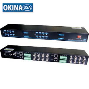 16-Channel Active Video Balun Receiver Okina VAB1600R