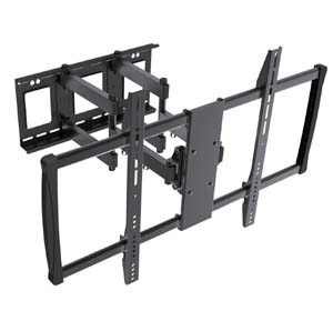 "Flat or Curved TV Mount for 60~100"" Fullmotion Max 900x600 176lbs, LPA37-696"