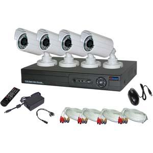 GadKo H.264 8CH DVR w/4 CCD 26 IR Cameras w/500GB HDD, eSecure ES03864A at Sears.com