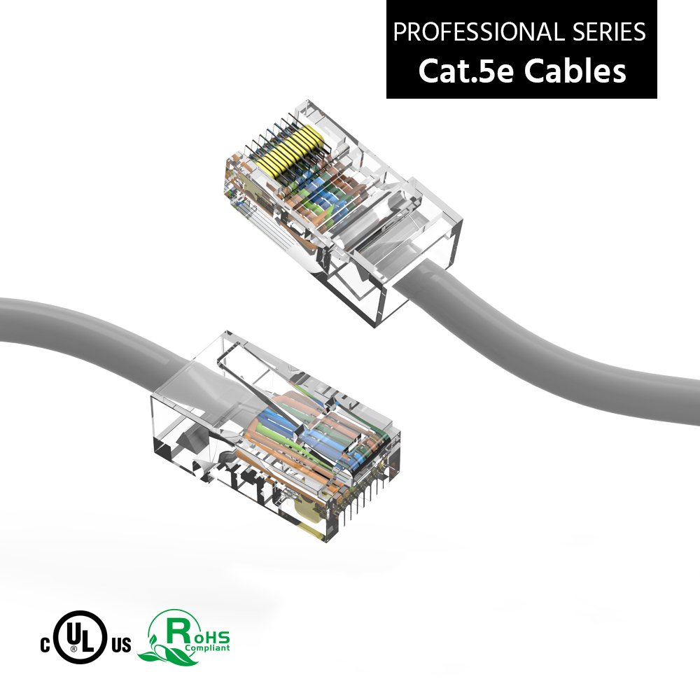 0.5Ft Cat.5E CMR Non-Boot Patch Cable Gray