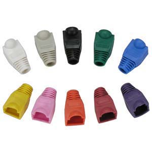 Color Boots for RJ45 Plug Black 20pk