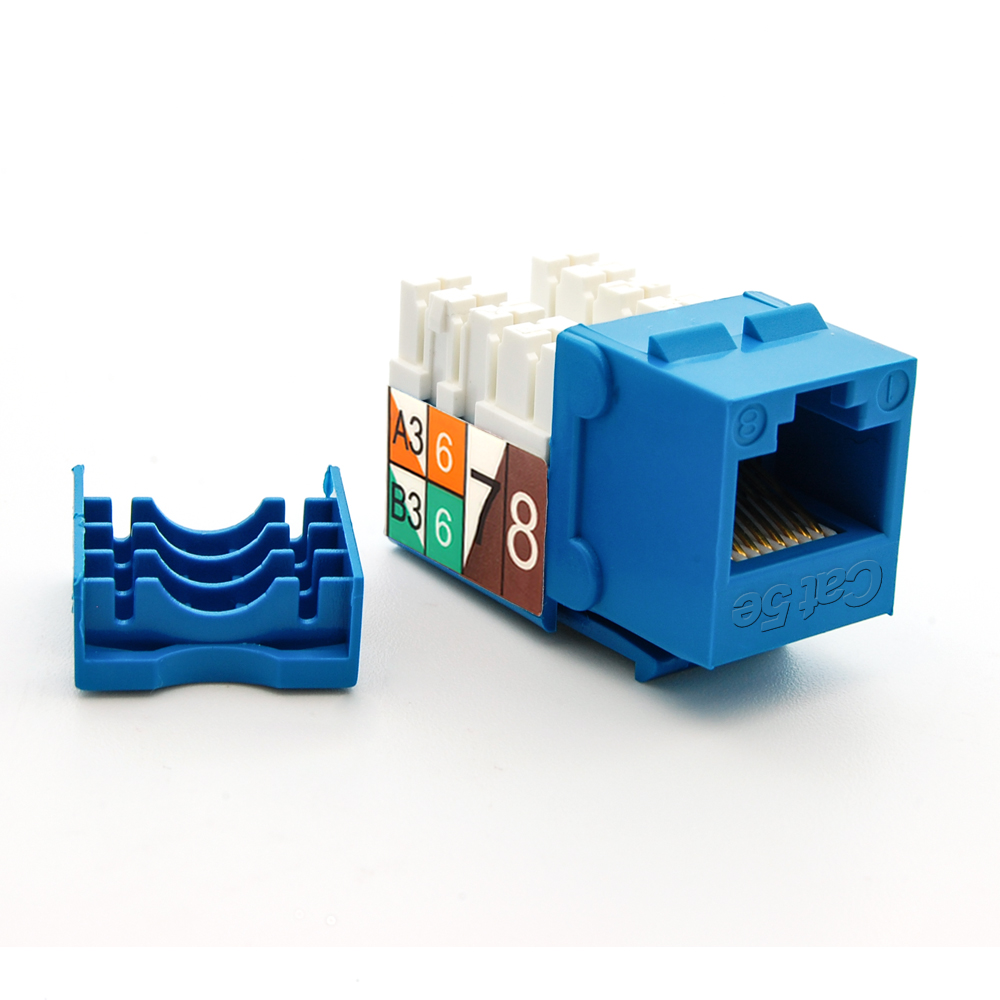 Cat.5E RJ45 110 Type Keystone Jack Blue