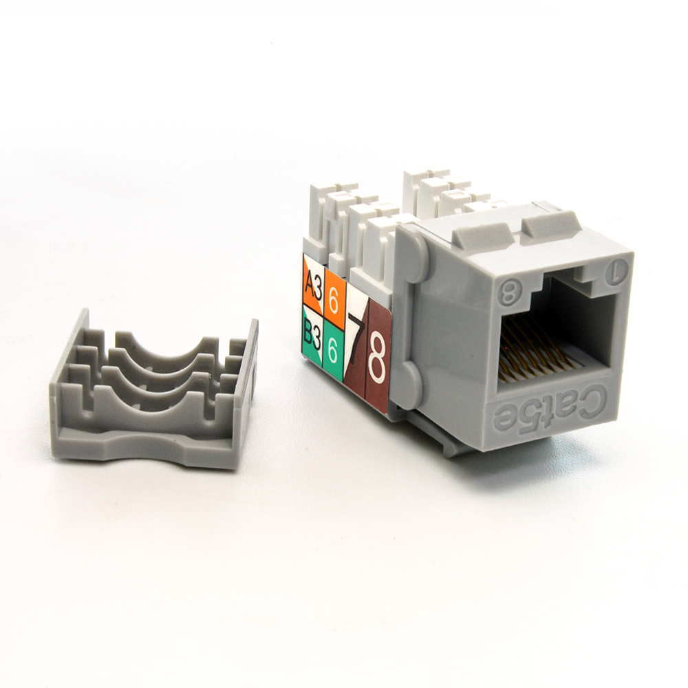 Cat.5E RJ45 110 Type Keystone Jack Gray