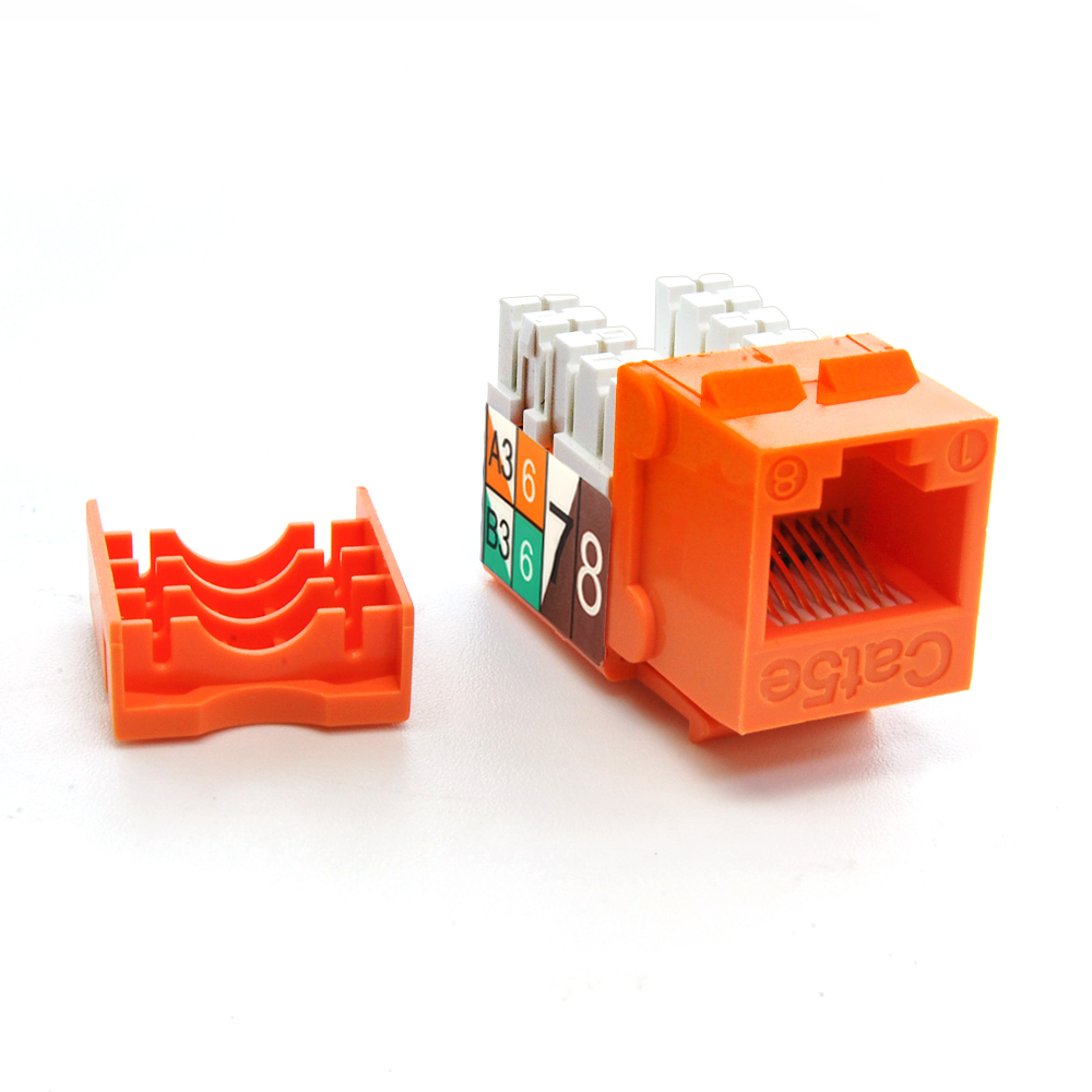 Cat.5E RJ45 110 Type Keystone Jack Orange