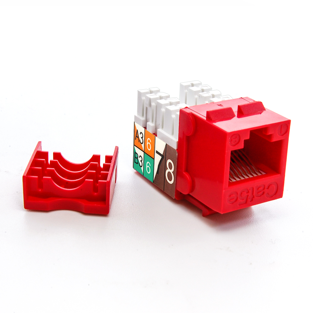 Cat.5E RJ45 Type 110 Keystone Jack Red