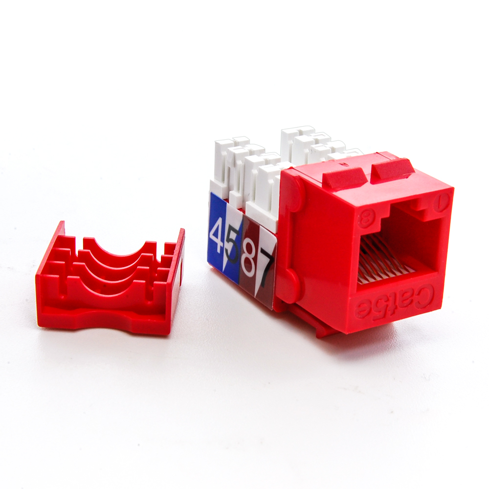 Cat5e Rj45 Type 110 Keystone Jack Red Bestlink Netware Wiring Diagram Sku 101602rd