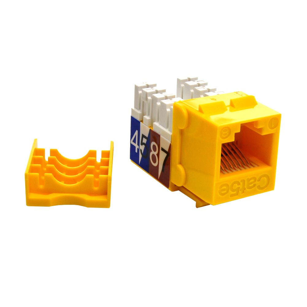 Cat.5E RJ45 110 Type Keystone Jack Yellow