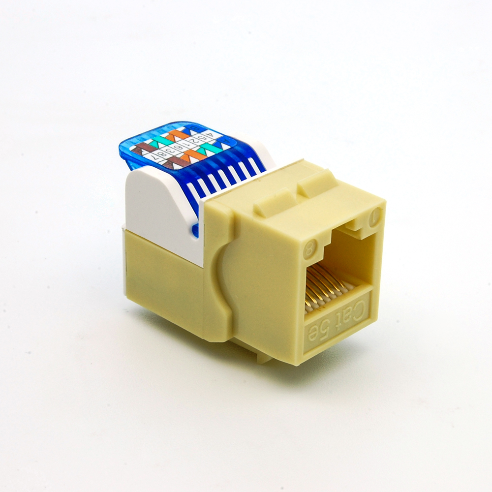 Cat.5E Tool Less Keystone Jack Ivory