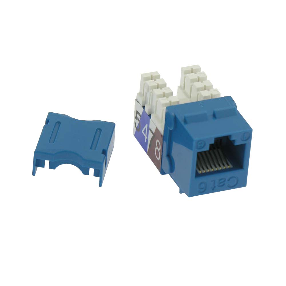 Cat.6 RJ45 110 Type Keystone Jack Blue