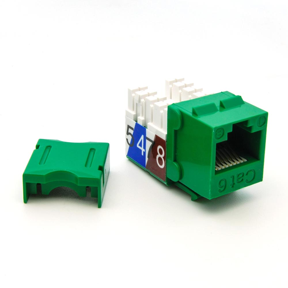 Cat.6 RJ45 110 Type Keystone Jack Green