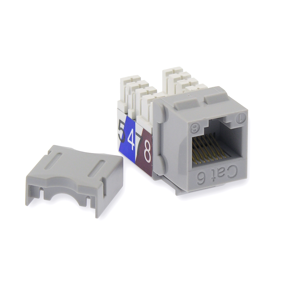 Cat.6 RJ45 110 Type Keystone Jack Gray