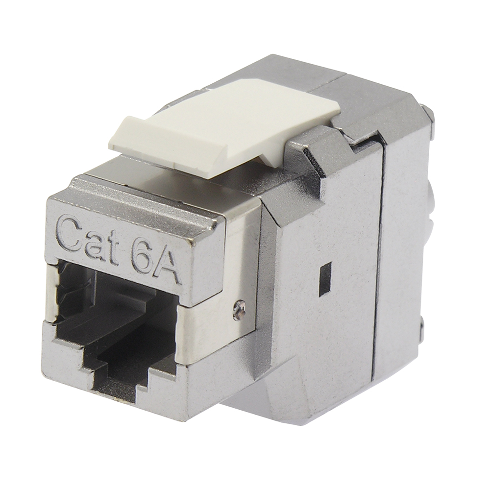 Cat.6A 180 Degrees Shielded RJ45 Keystone Jack