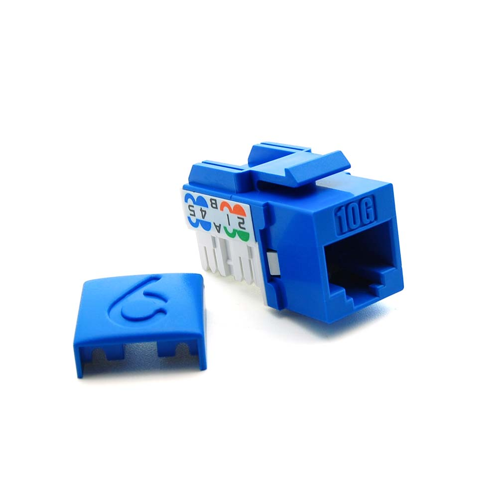 Cat.6A Keystone Jack Blue