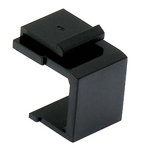 Snap-in Keystone Wallplate Blank Insert Black