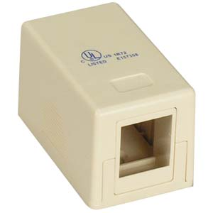 1 Port RJ45 Surface Mount Box Ivory (Box only)