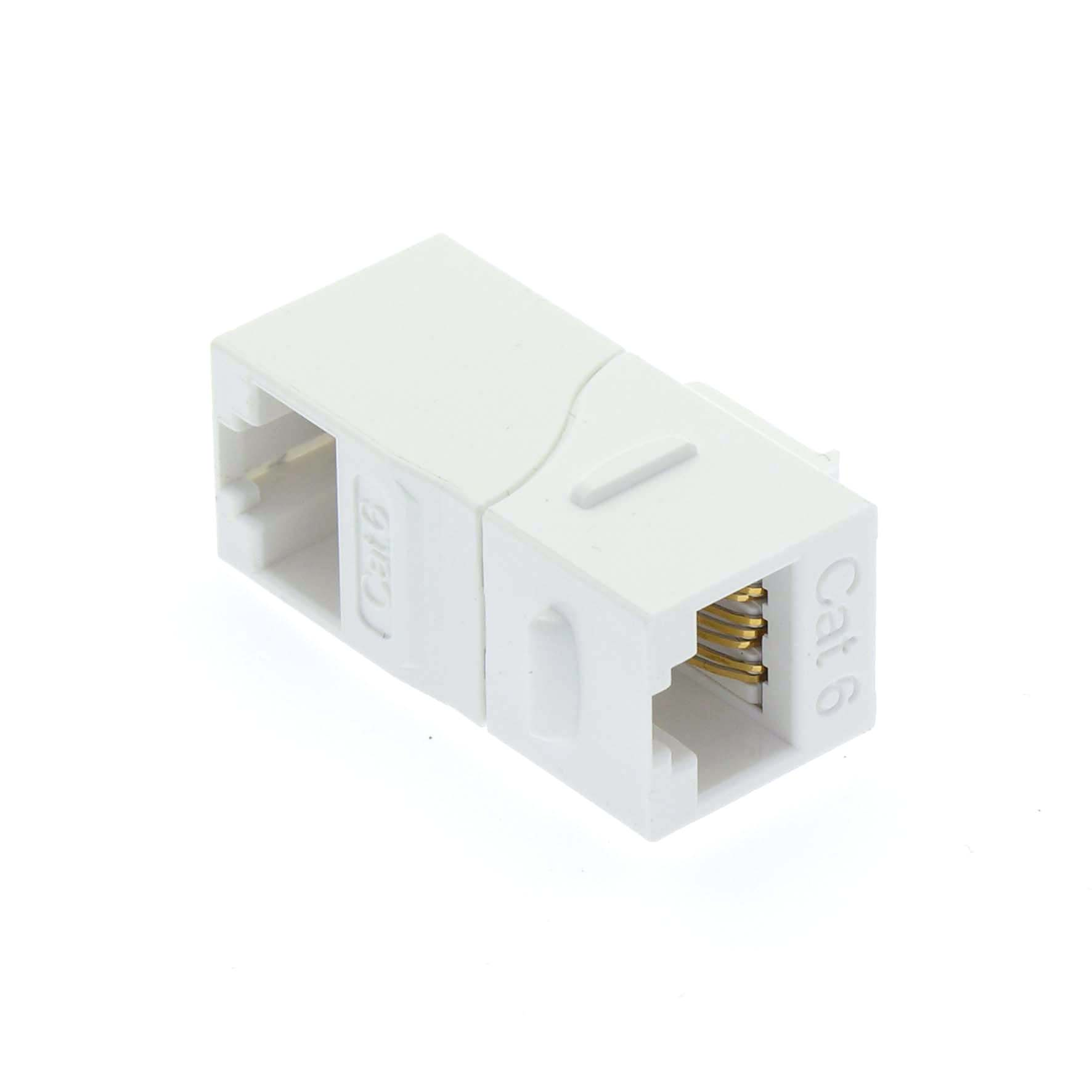 Cat.6 Right Angle Keystone Coupler White