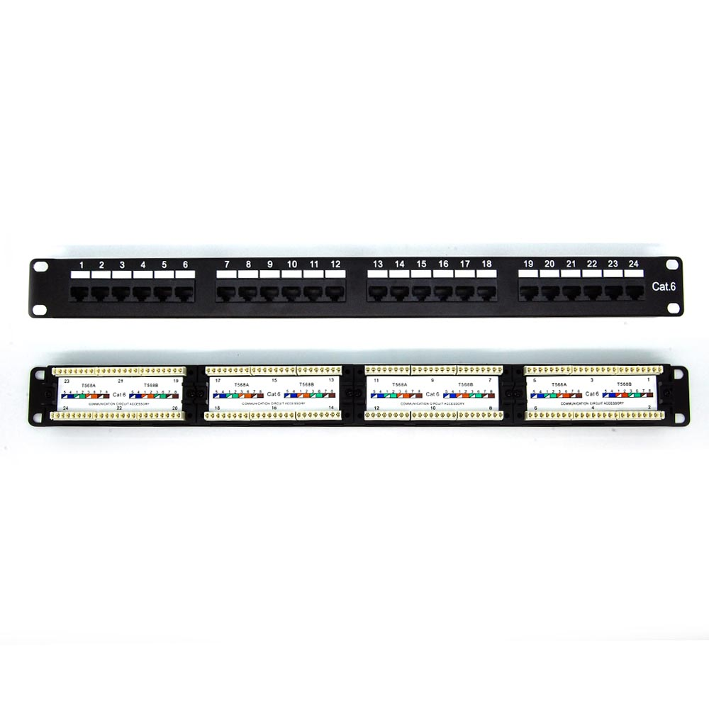 Cat.6 110 Type Patch Panel 24Port Rackmount