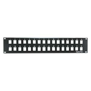 "2U 19"" 32port Blank Panel for Keystone Jack"