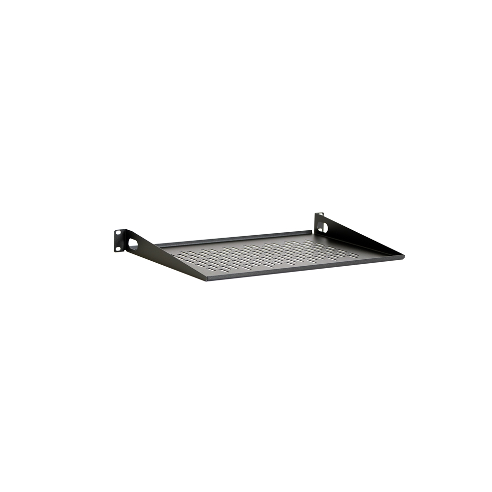 "1U 12"" Vented Light Duty Rack Shelf"