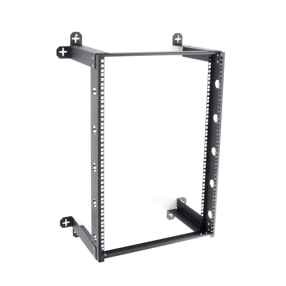 "V-Line 16U Fixed  Wall Mount Rack 12"" Deep"