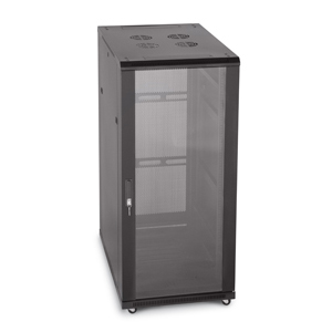 27U Server Rack, Glass Front/Vented Rear