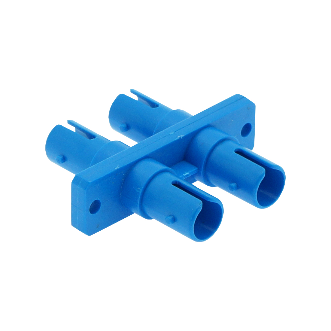 ST SM DX with flange Adapter, Blue Color, Plastic