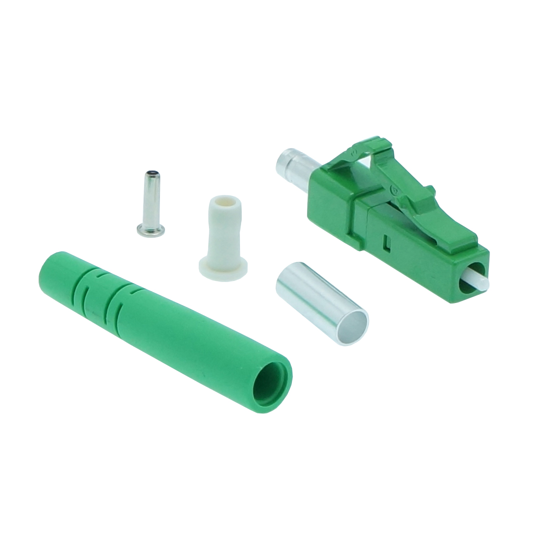 LC/APC Singlemode Simplex Connector 3.0mm Green (10pack)