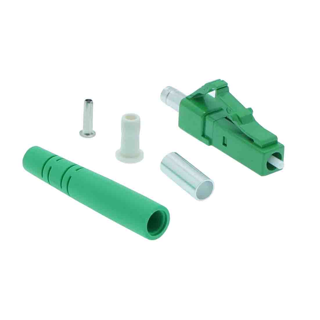 LC/APC Singlemode Simplex Connector 3.0mm Green (100pack)