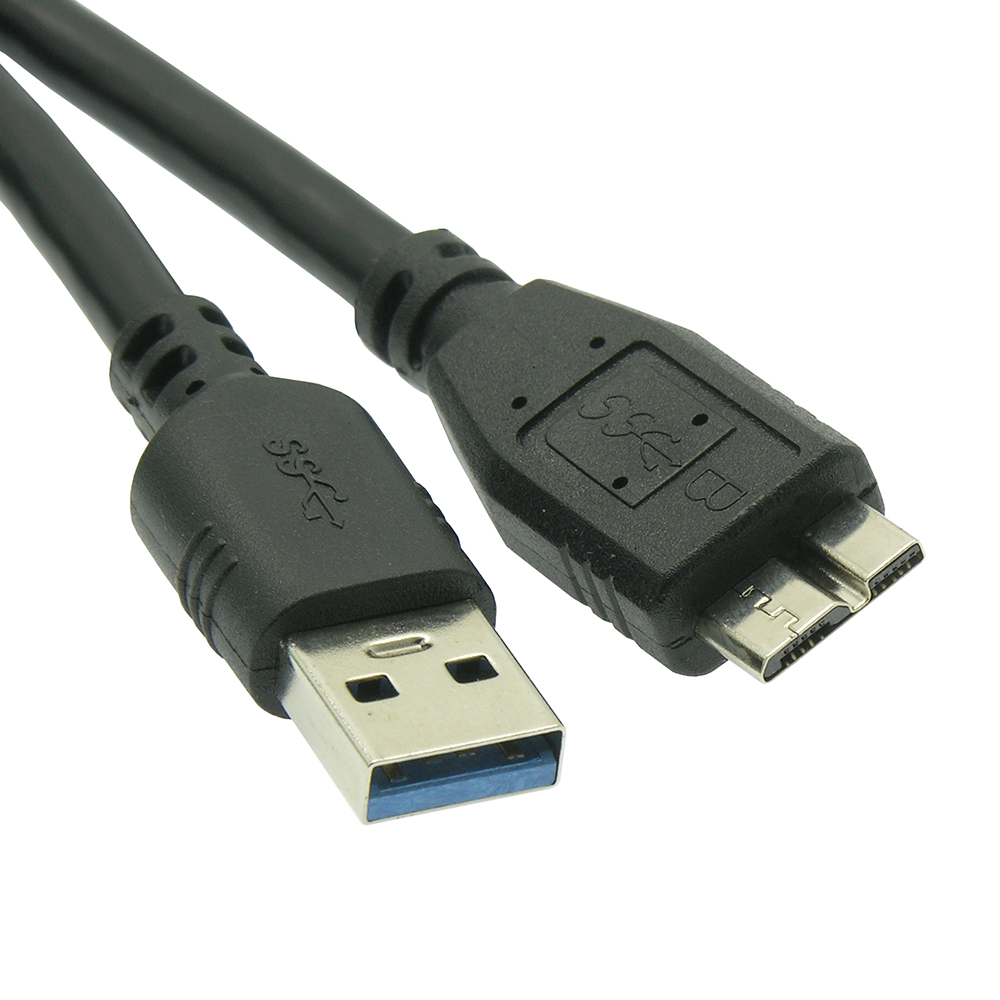 6Ft USB3.0 A-Male to Micro B-Male Black