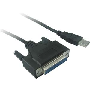 3Ft USB Parallel Printer Adapter (DB25-F)