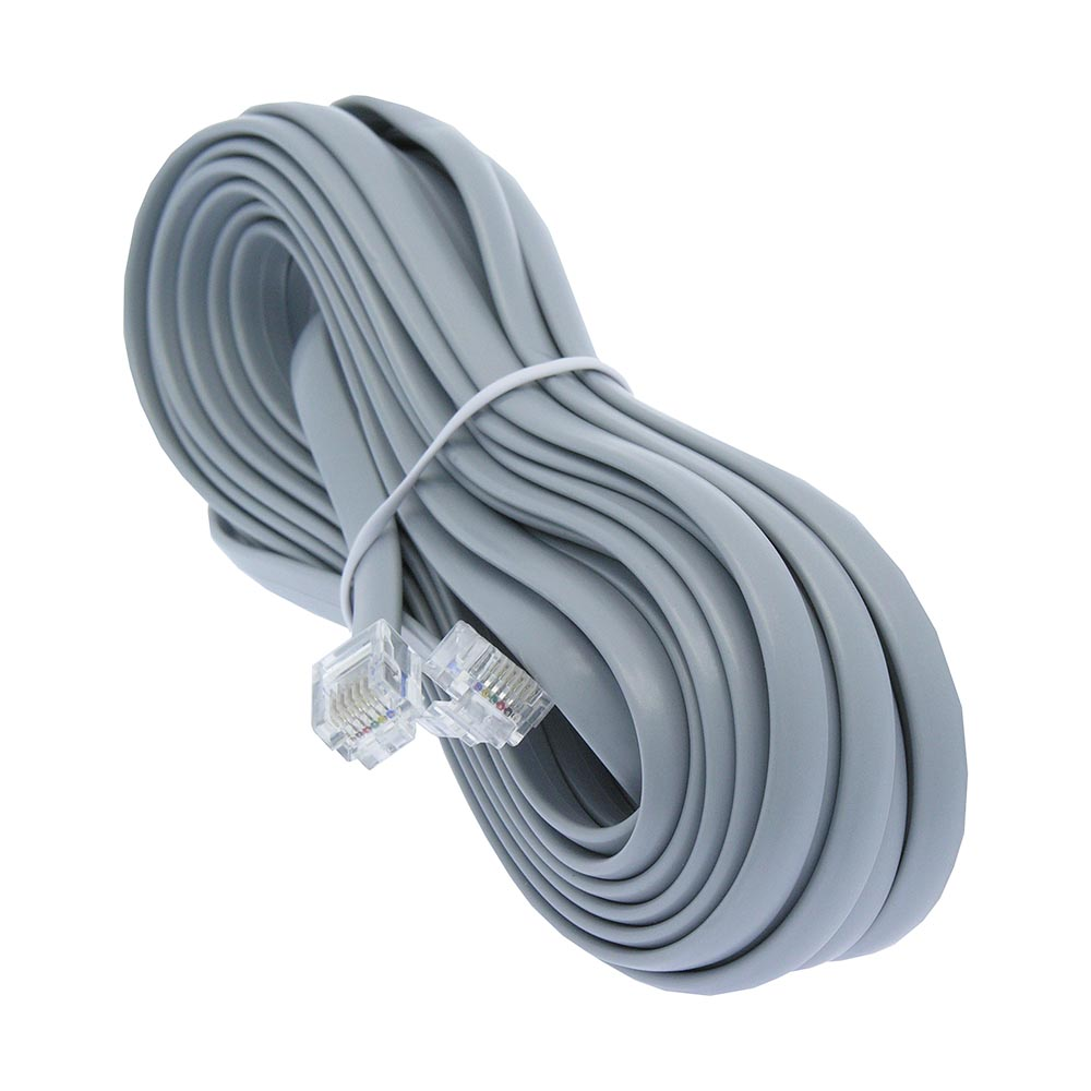 20Ft RJ11 Modular Telephone Cable Straight