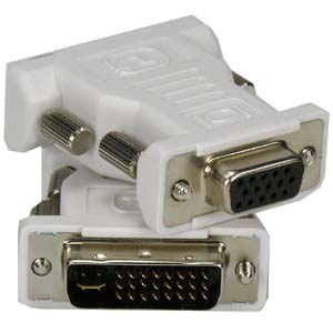 DVI-I Dual Link Male (24+5) / VGA (DB15HD) Female Adapter