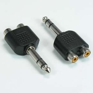 1/4 inch Stereo to Dual RCA Jack Adapter