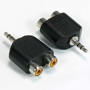 3.5mm Stereo Plug to Dual RCA Jack Adapter