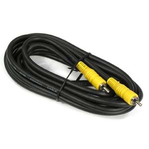25Ft RCA M/M RG59 Cable Black