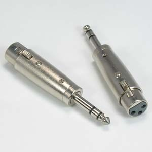 "XLR Female to 1/4"" Stereo Plug Adapter"