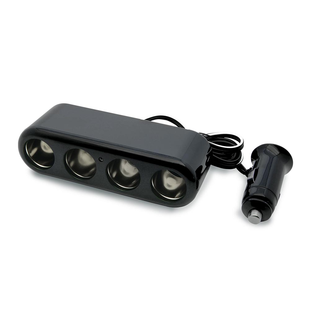 4-Way Cigarette Lighter 12V Automotive Socket Extender