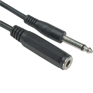 "6Ft 1/4"" Mono Male/Female Cable"