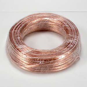 100Ft 22AWG/2 Polarized Speaker Wire Coil CCA Clear Jacket