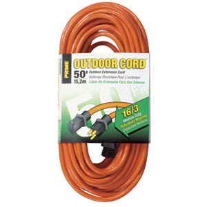 50Ft 16/3 Outdoor Extension Cord