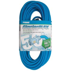 50Ft 16/3 Cold Weather Extension Cord W/ Primelight Indicator Light