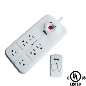 6-Outlet Energy Controlled Surge Protector w/ 6Ft Power Cord & Remote