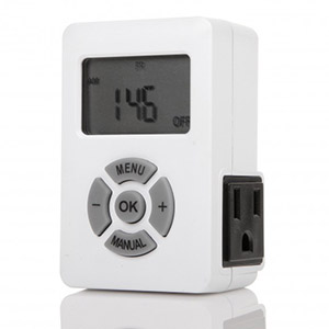 Weekly Digital Timer AM/PM  Display Single 3-Prong Outlet