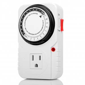 Mechanical Timer 24 Hour Single 3-Prong  Outlet