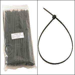 "12"" Nylon Cable Tie 50lbs Black 100pk"