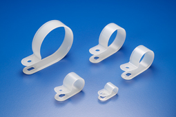 "R-Type Cable Clamp 3/16"" Clear 100pk"